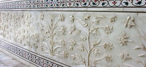 Stone Work in Taj Mahal, Agra