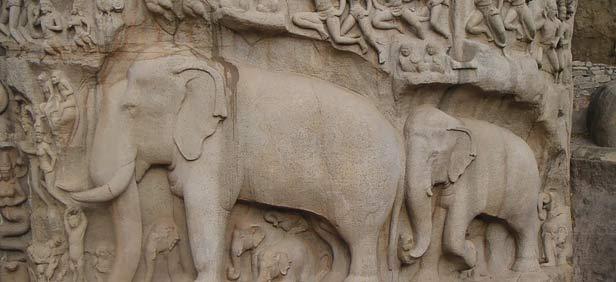 Carvings on a temple, Tamil Nadu