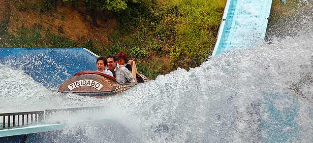 Tibidabo Amusement Park, Barcelona, Spain