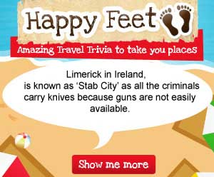 Limerick in Ireland, is known as 'Stab City' as all the criminals carry knives because guns are not easily available.